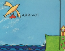 """Arrivo!"" di Hervé Tullet. Franco Cosimo Panini 2015"