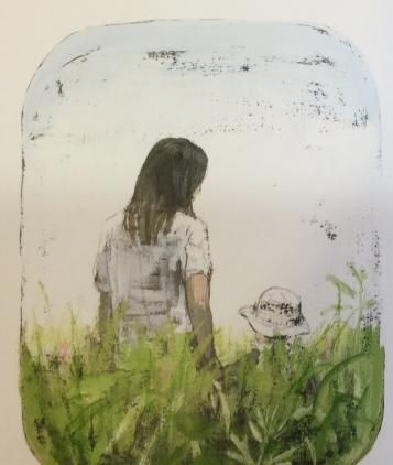 """Illustrazione di Komako Sakaï, da """"Nell'erba"""". Babalibri 2011"""